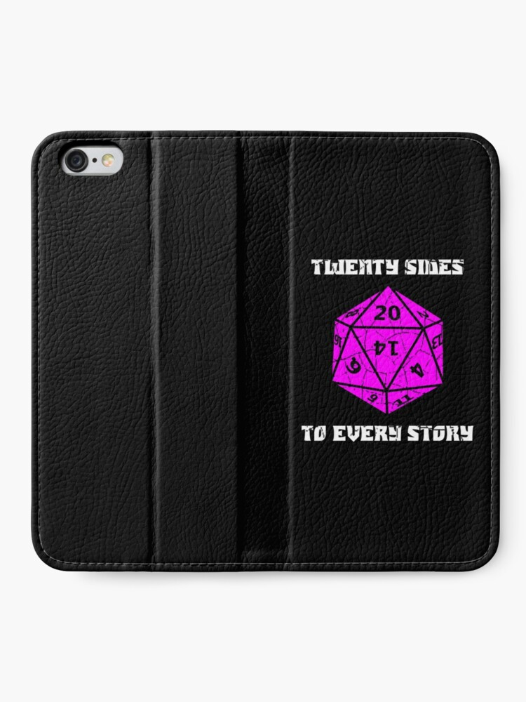 Alternate view of Dungeons & Dragons 20 sides to Every Story iPhone Wallet