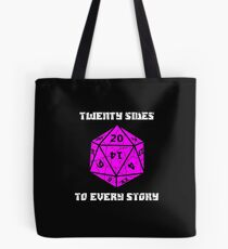 Dungeons & Dragons 20 sides to Every Story Tote Bag