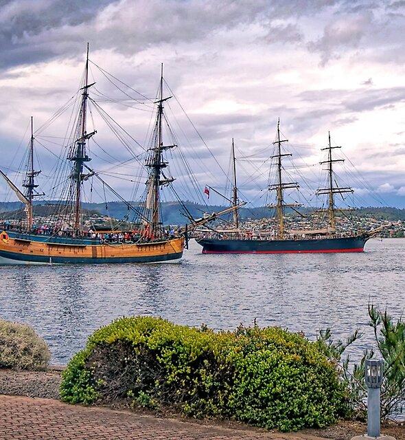 Tall Ships in the Derwent - Hobart Tasmania by TonyCrehan