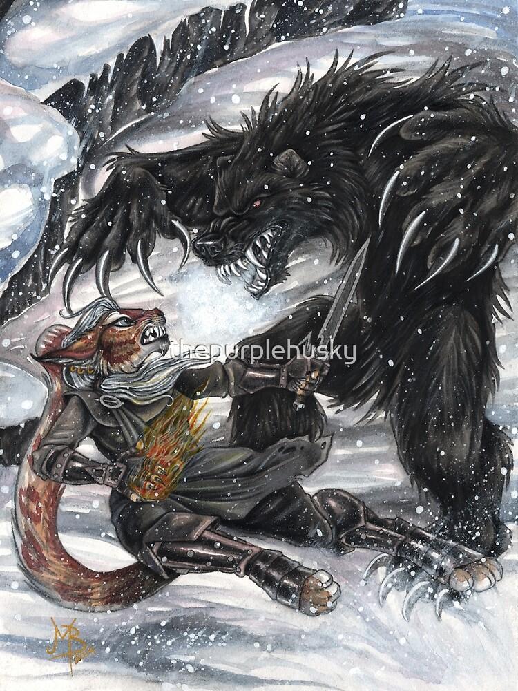 Werebear Battle by thepurplehusky