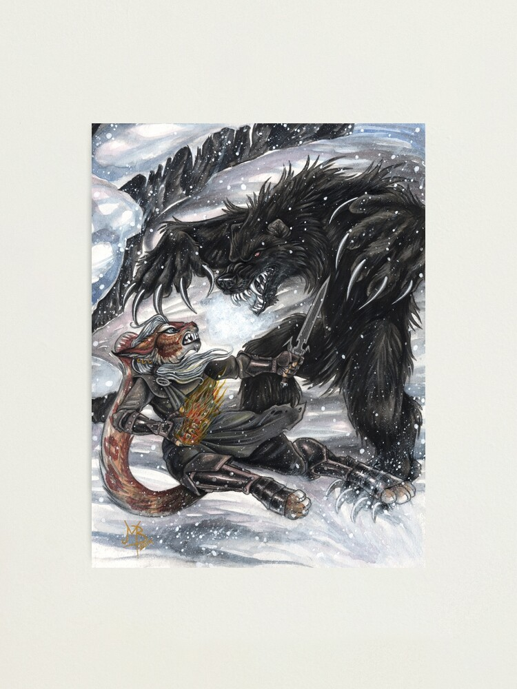 Alternate view of Werebear Battle Photographic Print