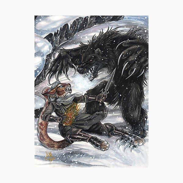 Werebear Battle Photographic Print