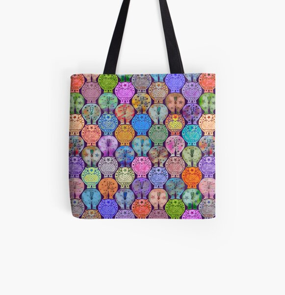 Starry Hippos All Over Print Tote Bag