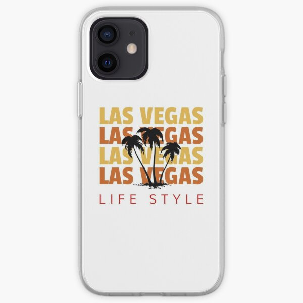Las Vegas Life Style Palm Tree Vacation Destination iPhone Soft Case
