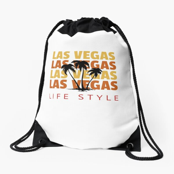 Las Vegas Life Style Palm Tree Vacation Destination Drawstring Bag