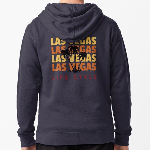 Las Vegas Life Style Palm Tree Vacation Destination Zipped Hoodie