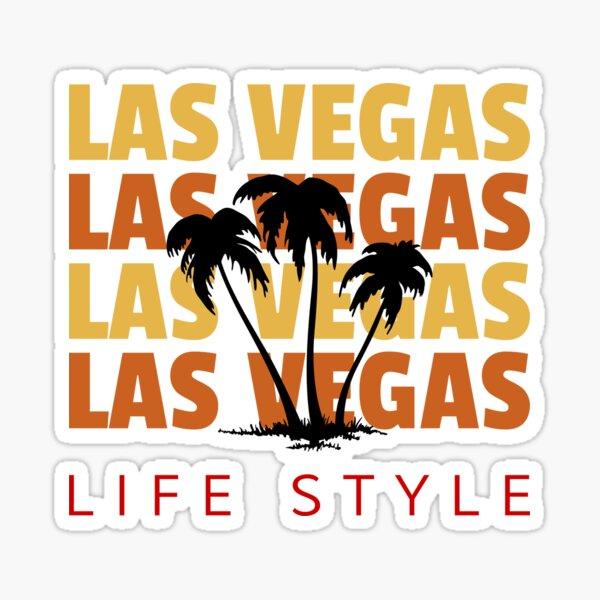 Las Vegas Life Style Palm Tree Vacation Destination Sticker