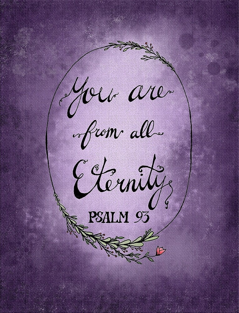 Psalm 93 - Purple by HDodson