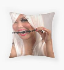 testing the quality Throw Pillow