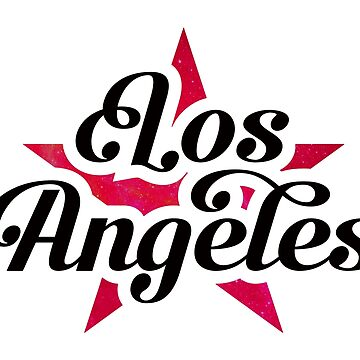 Los Angeles USA with red star by RAWWR