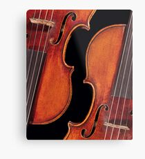Twin Violins Metal Print