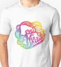Love Wins Design - Version Three Unisex T-Shirt