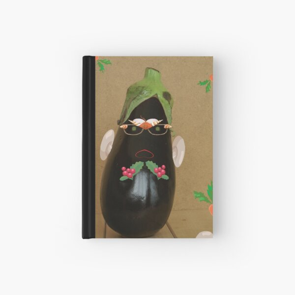 Mr. Aubergine is ready to party Hardcover Journal