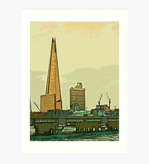 Southbank skyline by Tim Constable Art Print