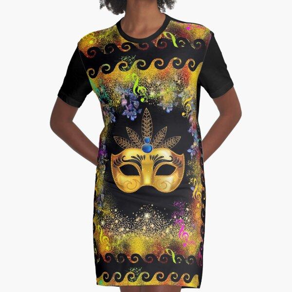 Mardi Gras - celebrate in style Graphic T-Shirt Dress