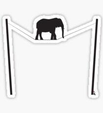 The great elephant act Sticker