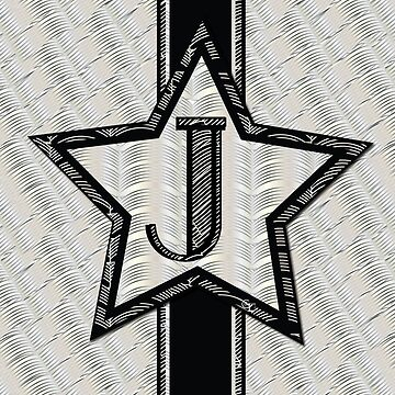 STAR of the SHOW art deco style letter J by CecelyBloom