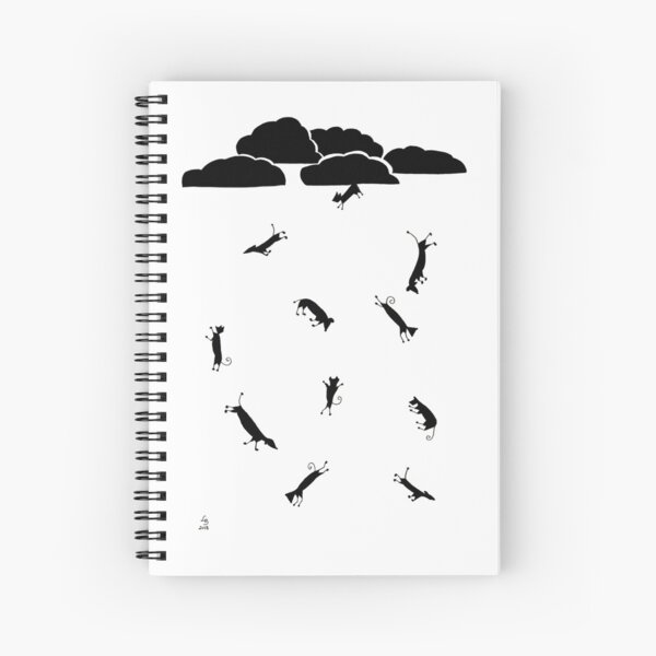 Raining Cats and Dogs II Spiral Notebook