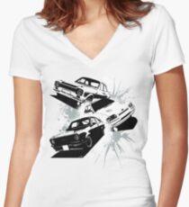 Escort Three Women's Fitted V-Neck T-Shirt