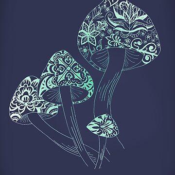 Mushroom Arabesque by ratswithhats