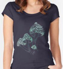 Mushroom Arabesque Women's Fitted Scoop T-Shirt