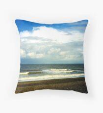 Cley Beach Throw Pillow