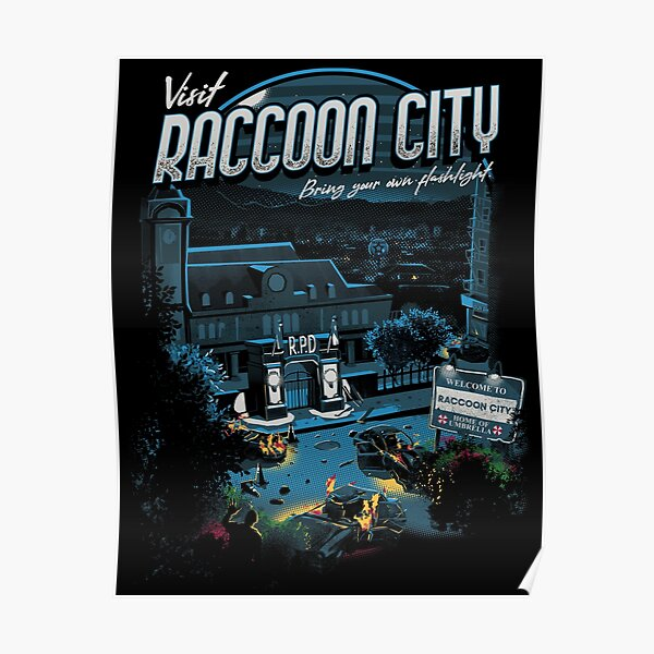 Visitez Raccoon City Poster