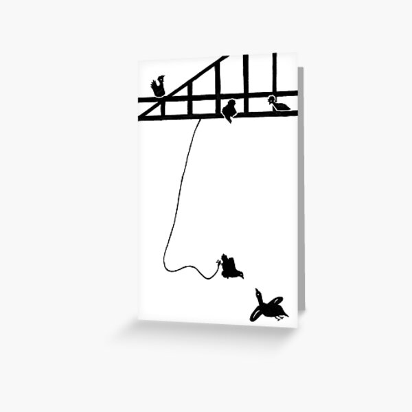Bungee Chicken Greeting Card