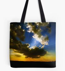 Sunset with Sun Rays Tote Bag