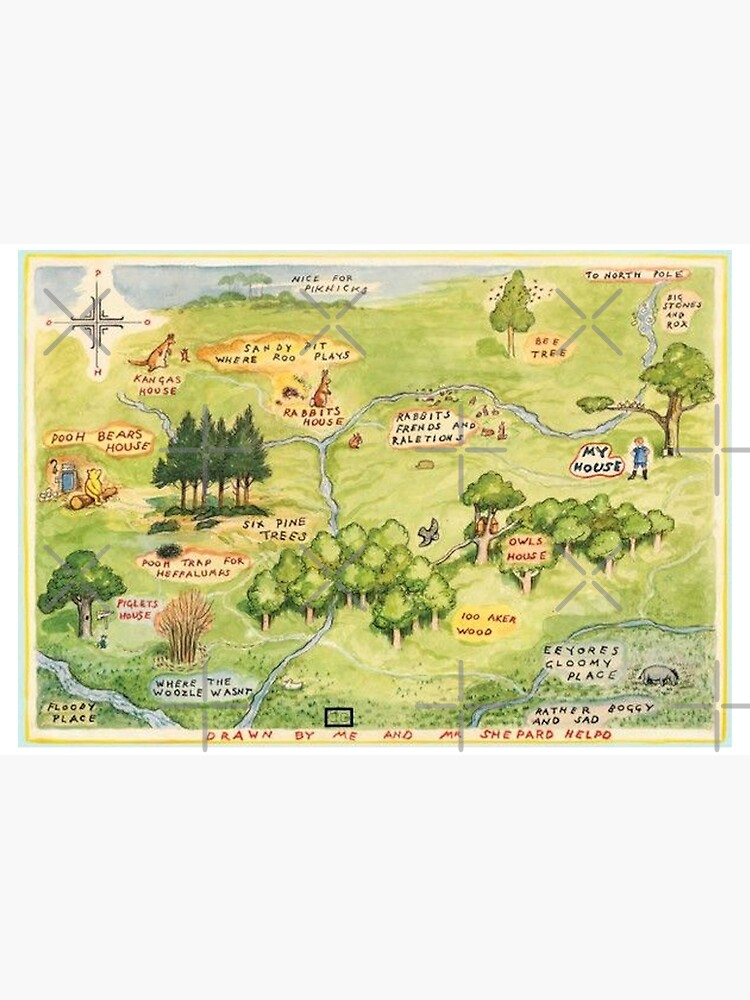 Hundred Acre Woods Map by FaithC340