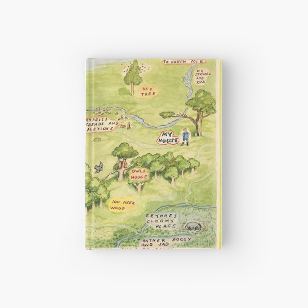 Hundred Acre Woods Map Hardcover Journal