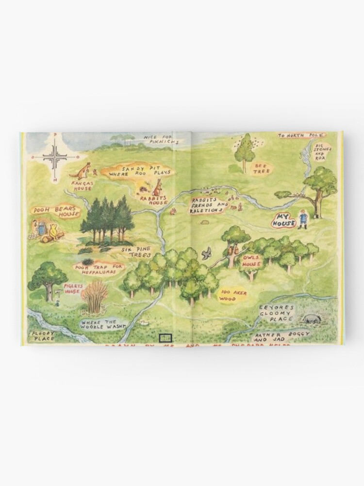 Alternate view of Hundred Acre Woods Map Hardcover Journal