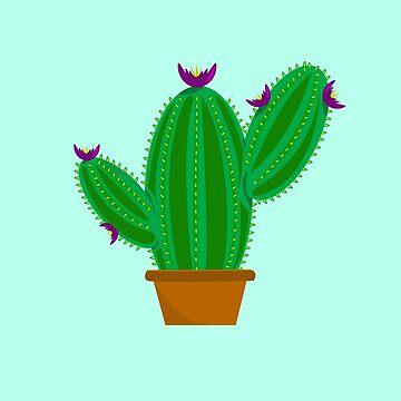Cute Cartoon Watermelon Cactus Cacti Pattern  by SharkaSplat