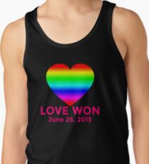 LOVE WON  Marriage Equality Commemorative Tank Top