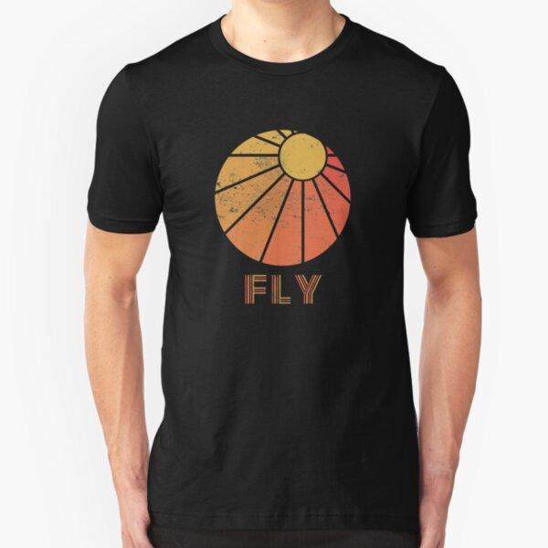 Retro Fly - Paragliding/Hang Gliding Slim Fit T-Shirt