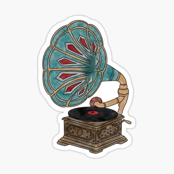 Vintage Gramophone  Sticker