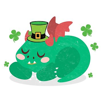 St. Patricks Day Shirt Funny Outfit Sleeping Dinosaur Novelty Gift  by arnaldog