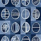Easter Egg Batik / Indigo by Markéta Stengl