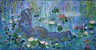 Cezanne nude ,Awakens in Monet,s Garden   Acrylic on canvas by eoconnor