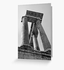 Temple of Saturn, Rome, Italy Greeting Card