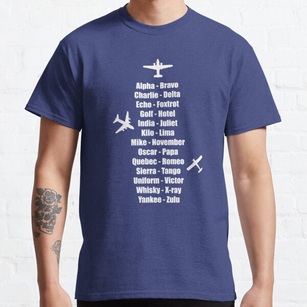 Pilot Phonetic Alphabet Military Cadet Airplanes Classic T-Shirt