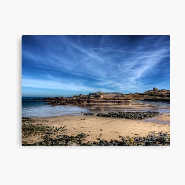 Across the bay to Fort Corblets Canvas Print