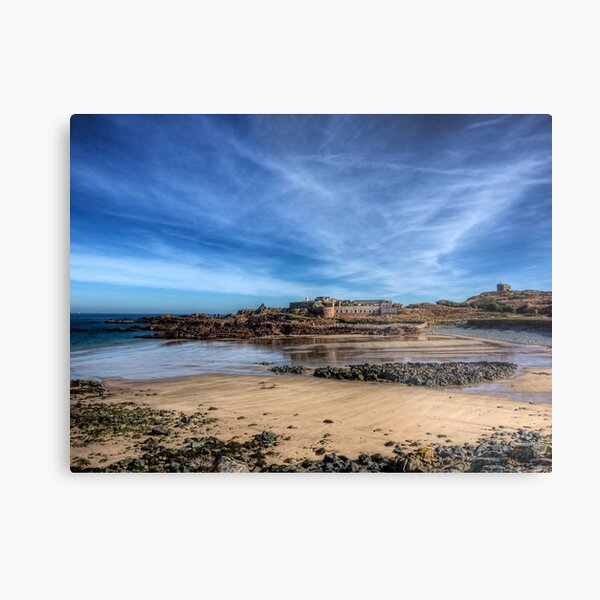 Across the bay to Fort Corblets Metal Print