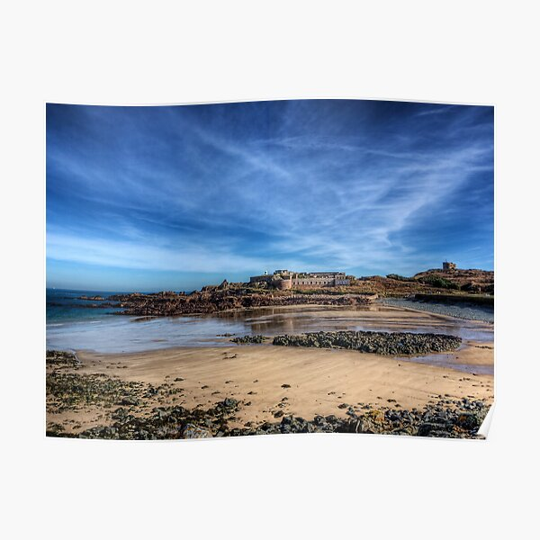 Across the bay to Fort Corblets Poster