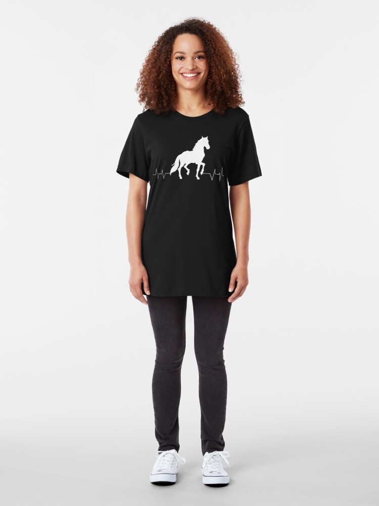 Alternate view of Horse Heartbeat - Horse lovers Slim Fit T-Shirt