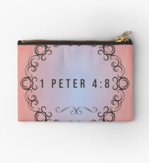 1 Peter 4:8 Above all, love each other deeply, because love covers over a multitude of sins. Studio Pouch