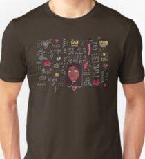 Girl Power - Go Girl PWR Power Black Woman Heart Unisex T-Shirt
