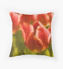 Impression, Tulips Throw Pillow
