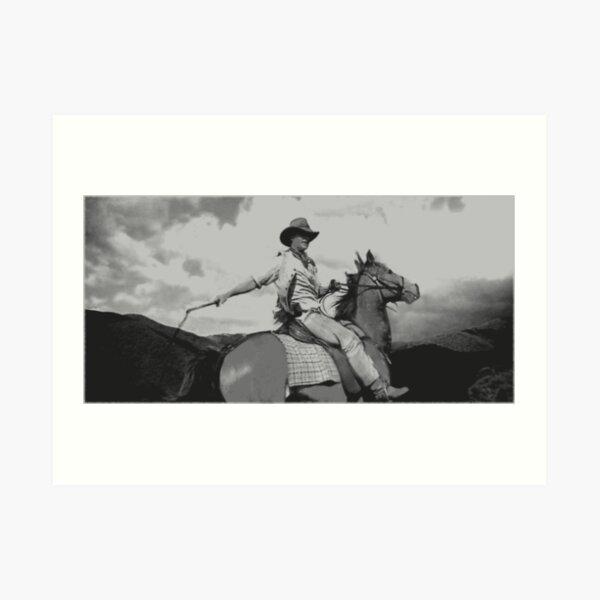 country australia horseman cowboy Art Print