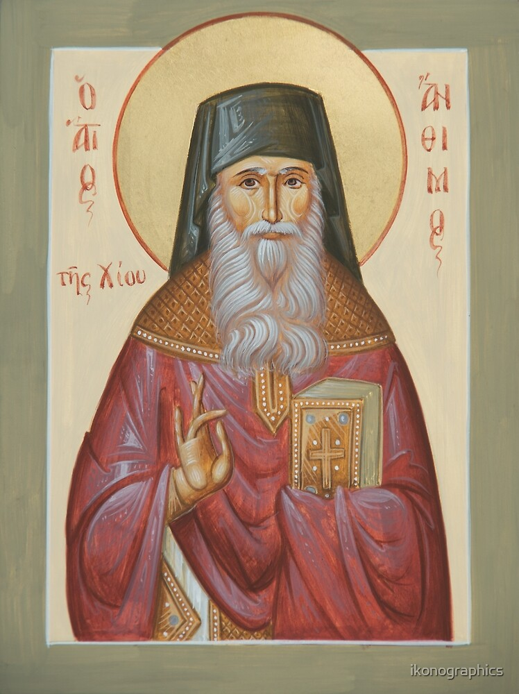 St Anthimos of Chios by ikonographics